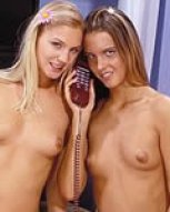 live and direct phonesex with filthy looking lezza princesses